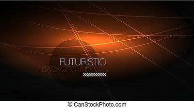 デジタルの技術, 抽象的, 背景, -, ネオン, 幾何学的, design., 抽象的, 白熱, lines., カラフルである, techno, バックグラウンド。, 未来派, 形。
