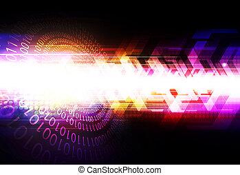 デジタルの技術, 抽象的, 背景