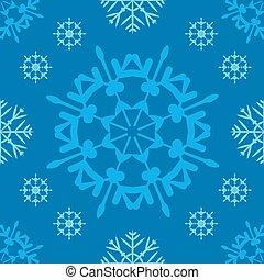 デジタルイメージ, の, 青, 雪片