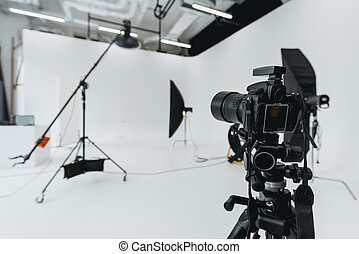 デジタルカメラ, 中に, 写真の スタジオ