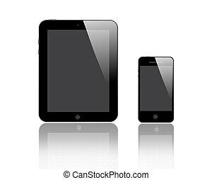 デジタルタブレット, そして, 痛みなさい, 電話