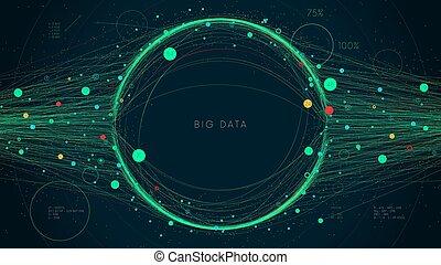 デジタルビジネス, 未来派, 概念, 情報, infographic, イラスト, 視覚化, analytics, ベクトル, プレゼンテーション, 大きい, ネットワーク, データ