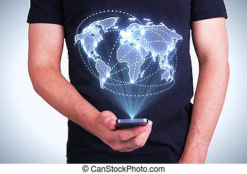 デジタル世界, 地図, インターフェイス