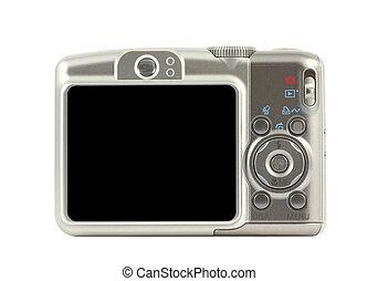 デジタル, カメラを圧縮しなさい, 背中, 側