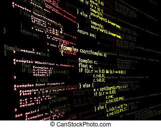 デジタル, プログラム, コード