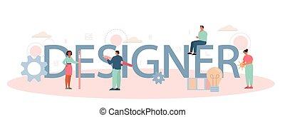 デジタル, ヘッダー, 印刷である, concept., デザイナー, イラストレーター, ∥あるいは∥
