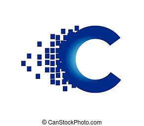 デジタル, 技術, ロゴ, 概念