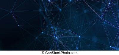 デジタル, 未来派, 青, デザイン, 暗い, バックグラウンド。, -, 3d, 形, 抽象的, polygonal, イラスト技術, concept.