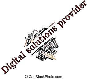 デジタル, 解決, プロバイダ