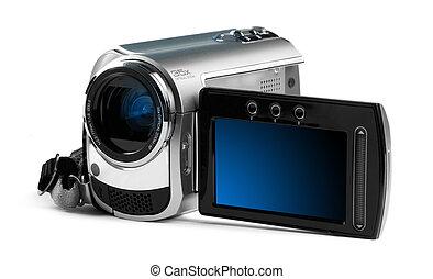 デジタル camcorder, に対して, a, 明るい, バックグラウンド。