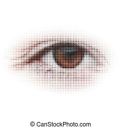 デジタル, -, eye., 抽象的, illustration., eps, 8