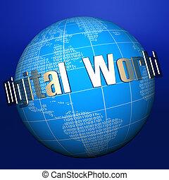 デジタル, globe1