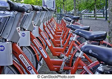 デンバー, b, 自転車, プログラム