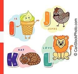デンマーク, ライチョウ, クリーム, lion., ハシバミ, ねこ, 氷, characters., ベクトル, ...