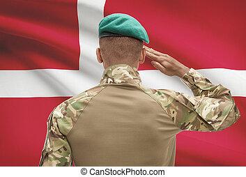 デンマーク, 肌が黒, -, 兵士, 旗, 背景