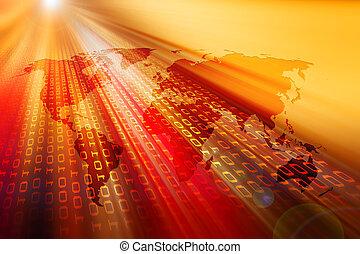データの流れ, そして, lensflare