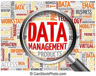 データ管理, 単語, 雲