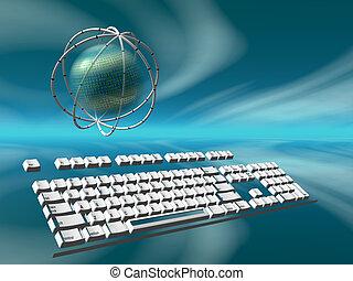 データ, サーバー, インターネット