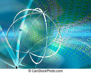 データ, サーバー, vitual, 現実