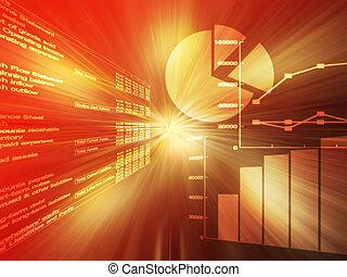 データ, スプレッドシート, 赤