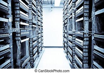 データ, ネットワーク, 中心