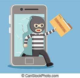 データ, 盗みをはたらく, ハッカー, 個人的