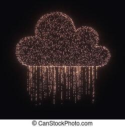 データ, 雲, 雨, 計算