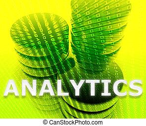 データ, analytics, イラスト