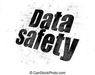 データ, concept:, データ, 安全, 上に, デジタルバックグラウンド