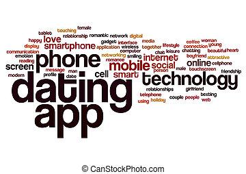 デートする, app, 単語, 雲