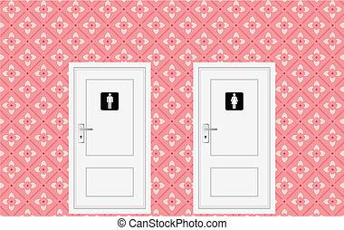 トイレ, ドア