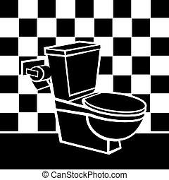 トイレ, ベクトル, イラスト