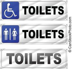 トイレ, ベクトル, デザイン, サイン