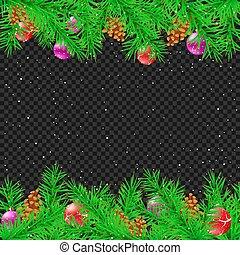 トウヒ, クリスマス, 背景, 透明