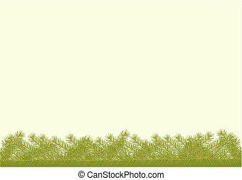 トウヒ, 小枝, 背景