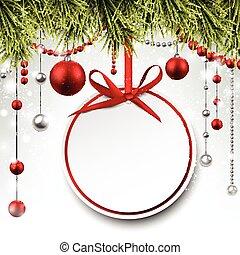 トウヒ, 紙カード, branches., 贈り物, ラウンド