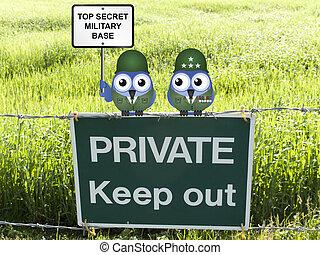 トップの秘密, 軍用基地