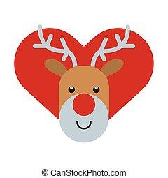 トナカイ, 心, 特徴, 幸せ, メリークリスマス