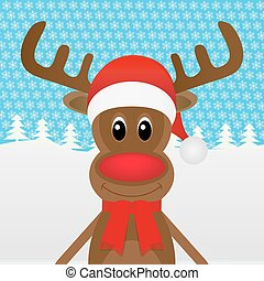 トナカイ, 森, クリスマス