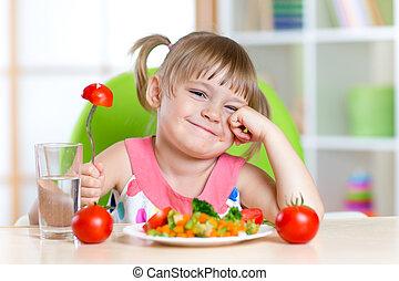 トマト, わずかしか, に対して, 嫌気, 女の子, 表現