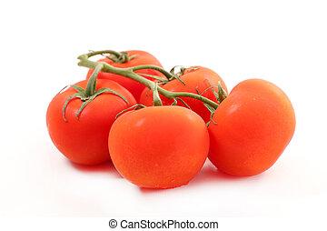 トマト, 新たに, 白, 隔離された
