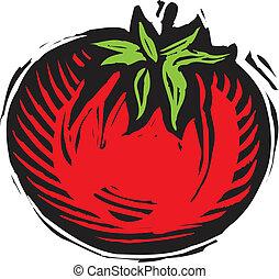 トマト, 白い赤, 背景