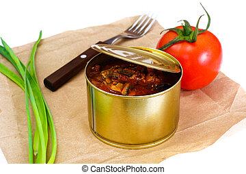 トマト, 缶詰にされた魚, ソース, スプラット