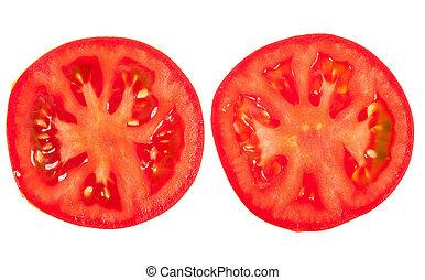 トマト, 薄く切られる