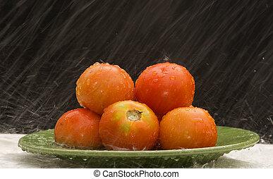 トマト, 雨