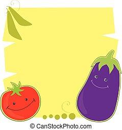 トマト, 面白い, なす