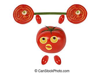 トマト, 面白い, わずかしか, バー, 昇給