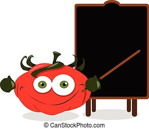 トマト, 面白い, 黒板