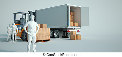 トラックのローディング, 倉庫