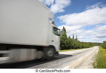 トラックの運転, 上に, country-road